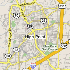 High Point Area Map